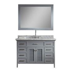 """Ariel Kensington 49"""" Single Sink Bathroom Vanity Set, Grey"""