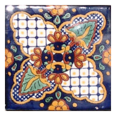 "4""x4"" Mexican Ceramic Handmade Tile #C087"