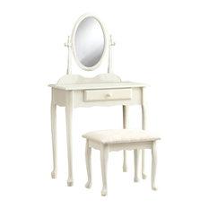 Wonderful Monarch Specialties   Vanity Set, 2 Piece Set, Antique White   Bedroom U0026