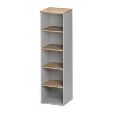 Jazz Slim 4-Shelf Bookcase, Beech Finish