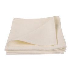 Prewashed Linen Lara Napkins, Set of 4, Off White, 51x51cm