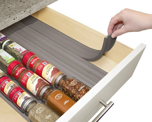 Kitchen Drawer Spice Organizers Youcopia spiceliner in kitchen drawer spice organizer 6 pack workwithnaturefo