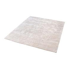 "Dimond Home Logan Handwoven Viscose Rug, Ivory, 6"" Square"