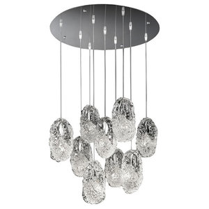 Genesi Pendant Light With Handmade Glass Diffusers