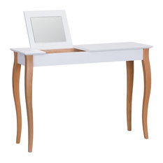 Lilo Large Scandinavian Dressing Table, White