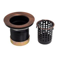 Jr. Strainer Bar Drain With Removable Basket, Antique Copper