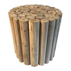 Round Teak Wood Plant Stand