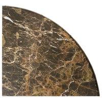 "9""x9"" Emperador Dark Marble Accessory, Corner Shelf, Both Sides Polished, Set of"
