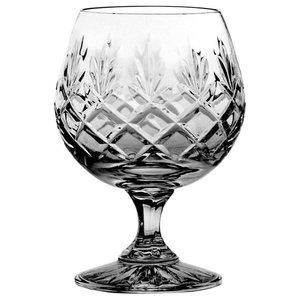 Pineapple Lattice Lead Crystal Cognac Glasses, Set of 6
