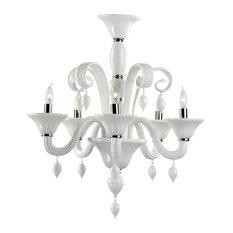 Cyan Design Treviso 5 Light Chandelier, Chrome