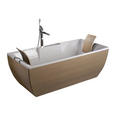 Kali'-Art Oak Free Standing Bathtub