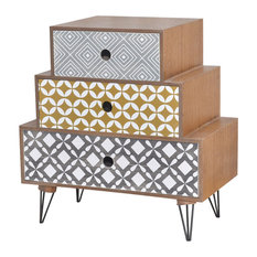 VidaXL Bedside Cabinet With 3 Drawers, Brown