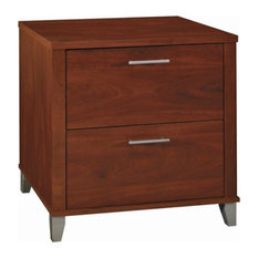 Bush Furniture Somerset Lateral File Cabinet in Hansen Cherry - Eng Wood