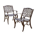 Covington Outdoor Cast Aluminum Dining Chairs, Set of 2