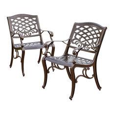 Beautiful GDFStudio   Covington Outdoor Dining Chairs, Set Of 2   Outdoor Dining  Chairs