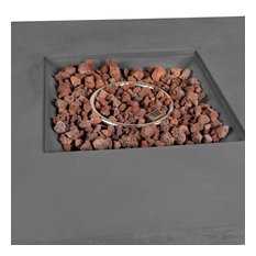 Brenta Lexora Outdoor Square Gas Fire Pit Table, Light Grey