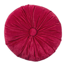 Casa Selvagem - Round Velvet Pillow, Red - Scatter Cushions