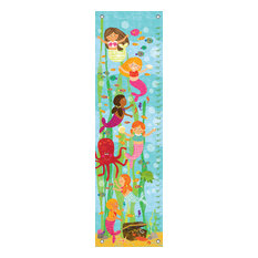 """Mermaid Mingle and Play"" Growth Chart Canvas Art by Liza Lewis"