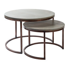 Aaron Modern Handcrafted Nesting Table Set