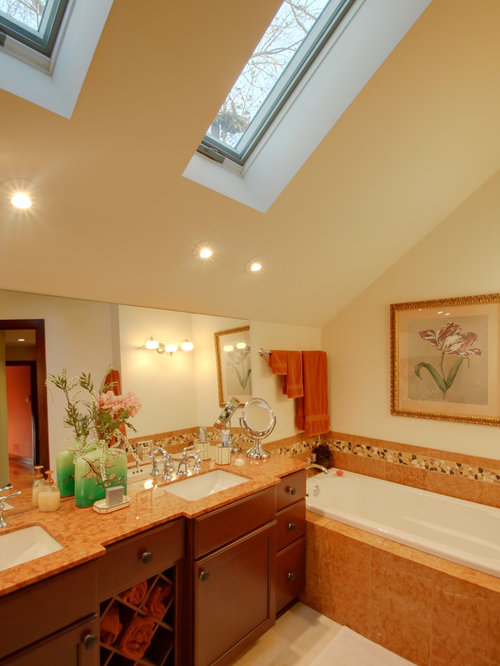 Sloped bathroom ceiling houzz for Slanted ceiling bathroom