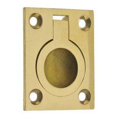 Genuine Solid Brass Flush Ring Pull, Polished Brass