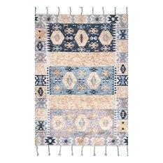 """nuLOOM Handmade Wool Marianne Transitional Area Rug, Multi 7'6""""x9'6"""""""