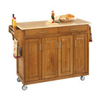 Home Styles Create-a-Cart 49 Inch Wood Top Kitchen Cart in Cottage Oak