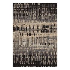 Orian Metropolitan City Drizzle, Black, 9'x13' Rectangle