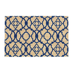 Waverly Greetings Lovely Lattice Doormat, Navy, 2'x3'