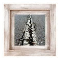 """""""White Line"""" Framed Print, 30x30 cm"""