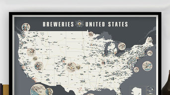 THE BREWERIES OF THE UNITED STATES 2.0 - POSTER VON POP CHART LAB
