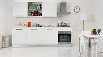 Colavene Smart kitchen+laundry 4 moduli bianco
