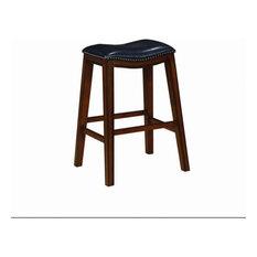 Rec Room Saddle Bar Stool Black Set Of 2