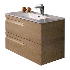 "Modern Bath Vanity Concetto 5500 Elm, 32"""