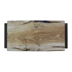 Small Natural Oak Chopping Board, Black