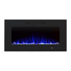 """42.01"""" Recessed Wall Mounted Electric Fireplace"""