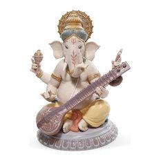 Lladro Veena Ganesha Figurine