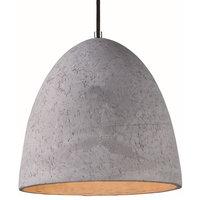 "Maxim 12397 Crete 12"" LED Concrete Pendant - Grey"