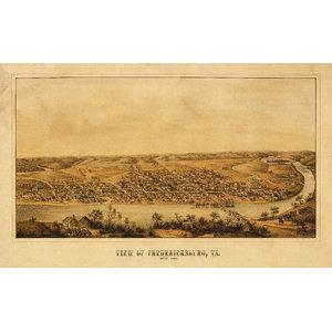 Alexandria VA 1890s Historic Panoramic Town Map 24x36