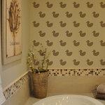Cute Stencils - Rubber Duck Wall Stencil - Rubber Duck Wall Stencil