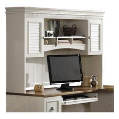 Bush Business Furniture   Bush Fairview Antique White Hutch For L Desk    Desks And