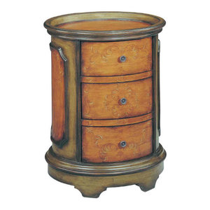 Natalie End or Side Table in Acorn/Green