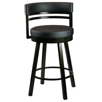 Swivel Stool With Metal Base, Counter Height