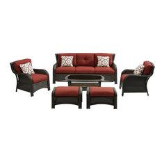 Strathmere 6-Piece Lounge Set, Brown/Red