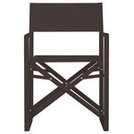 Pangea Home - Sunset Directors Chairs, Set of 2, Black - That perfect chair for that perfect sporting event, balcony, beach day, back yard spot. You will love these director chairs for the portability, comfort and durability. Made from an all aluminum frame makes these chairs rust proof. Chairs can fold for easy storage