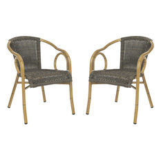 Dagny Arm Chairs, Set of 2, Chocolate