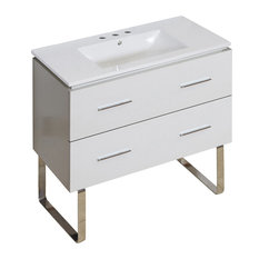 Plywood-Melamine Vanity Set, White