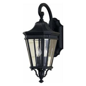 Feiss OL5401BK Cotswold Lane 2-Light Black Outdoor Wall Sconce