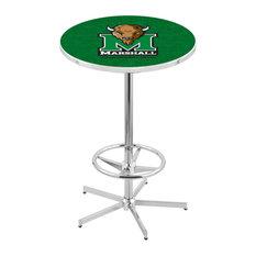 L216 - 42-inch Chrome Marshall Pub Table By Holland Bar Stool Co.