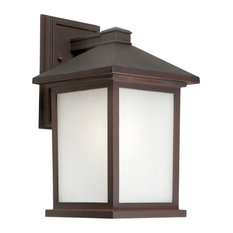 """Forte Lighting 17020-01 1 Light 14"""" Tall Outdoor Wall Sconce - Antique Bronze"""